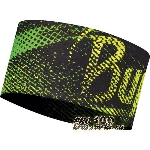Повязка на голову спортивная Buff Flash Logo Yellow Fluor
