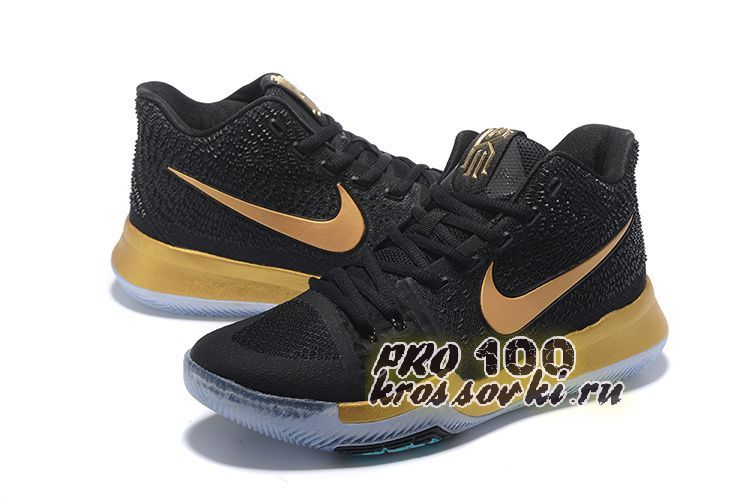 Nike Kyrie Irving 3 Basketball Shoes Gold Black