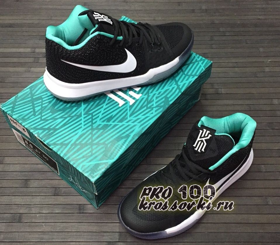 Высокие кроссовки Nike Kyrie Irving 3 Black Silver White