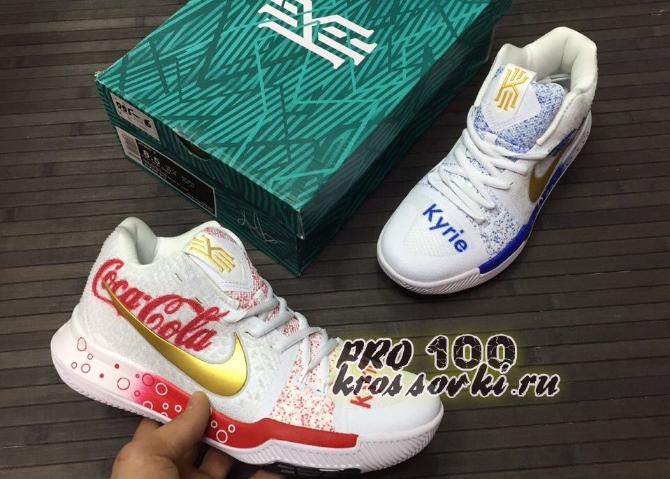 Кроссовки Nike Kyrie Irving 3 Basketball Shoes Coca Edition