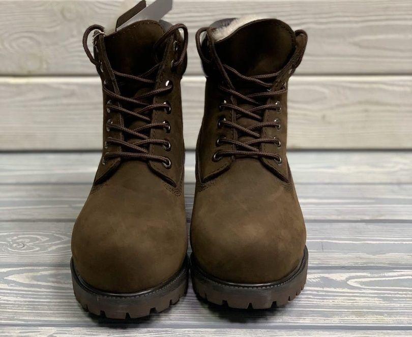 Timberland 6 Inch Premium Waterproof Boots Brown на меху