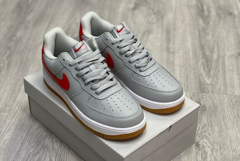 Nike Air Force 1 Low Silver Red Gym