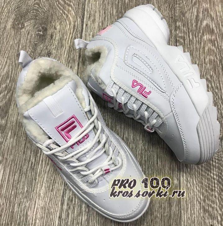 Зимние кроссовки Fila на меху