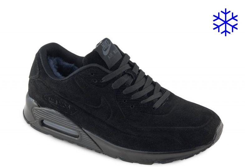 Nike Air Max 90 VT зимние на меху черные