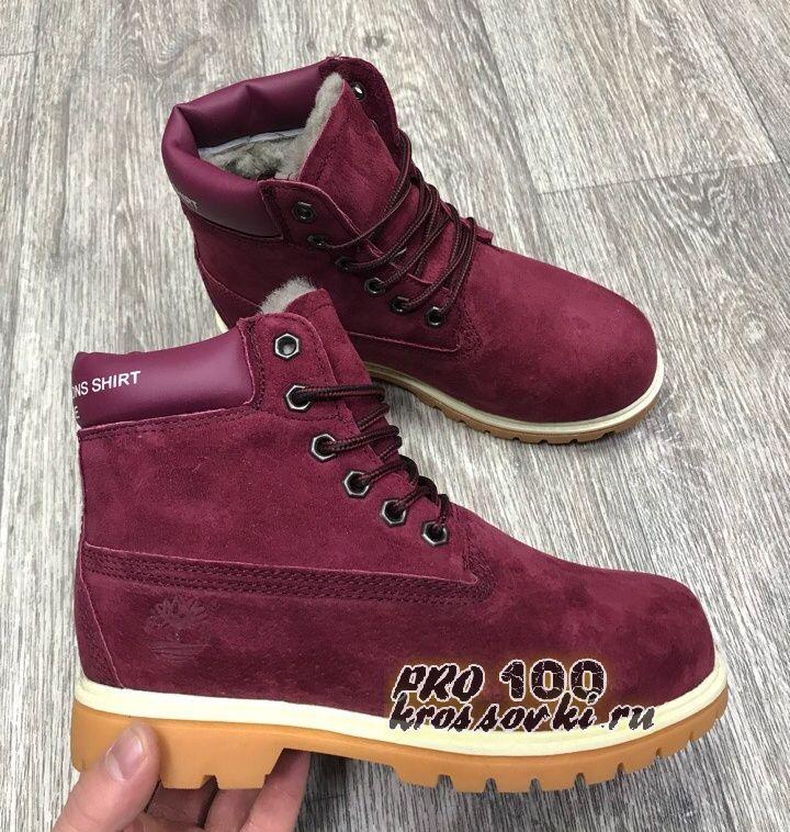 Женские Timberland 6 Inch Premium Waterproof Boots бордовые