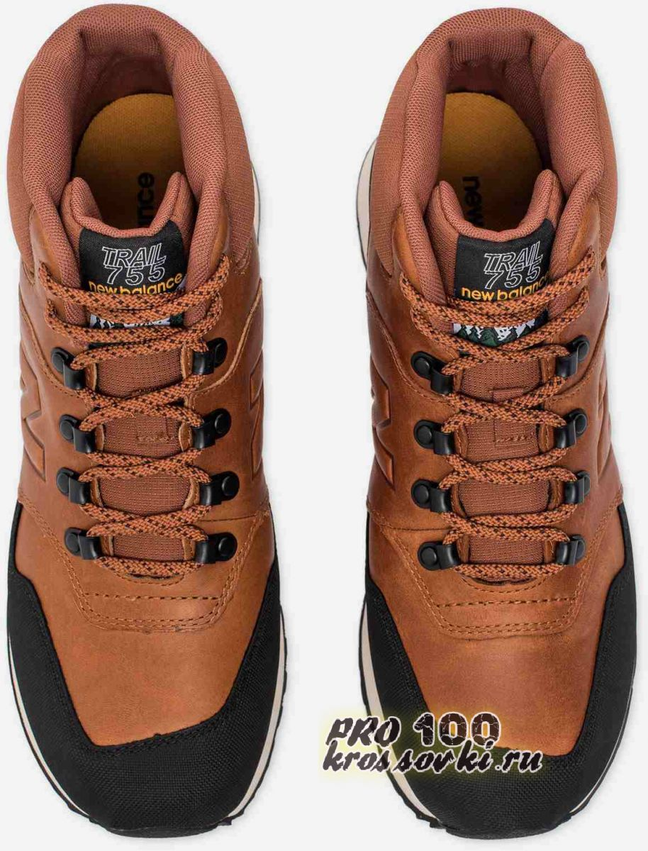 Высокие черные кроссовки New Balance 755 без меха осень-зима