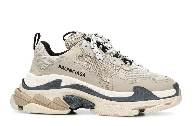 Кроссовки Balenciaga BEIGE & BLACK TRIPLE S