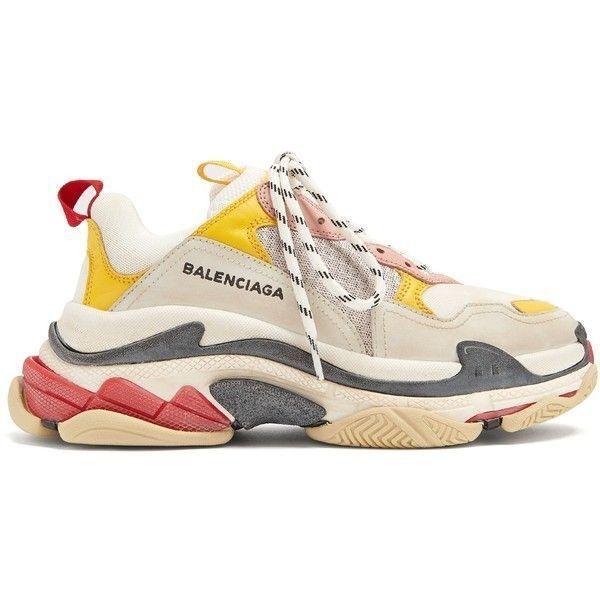 Кроссовки Balenciaga Triple S (Cream / Yellow-red)