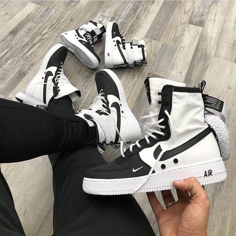 Высокие кожаные Nike  SF Air Force 1 High Panda
