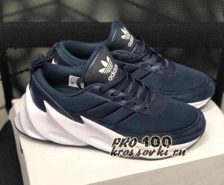 кроссовки Adidas Sharks синие с белым