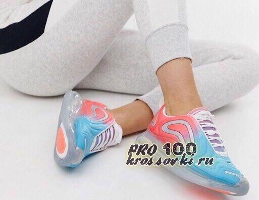 Кроссовки Nike Air Max 720 красно-голубые