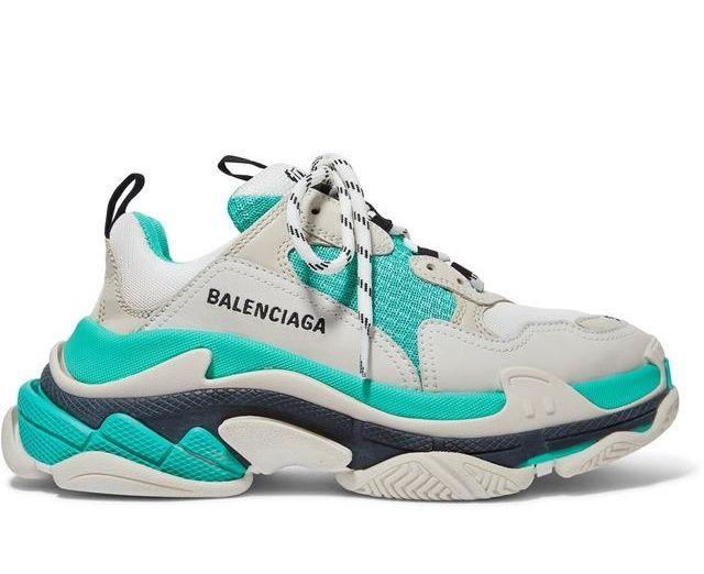 Кроссовки Balenciaga Triple S мятные