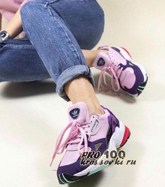 кроссовки Adidas Falcon Clear Pink Legend Purple