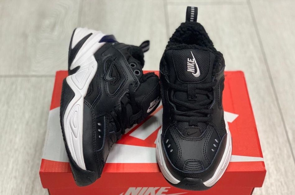 Зимние Nike M2K Tekno Black White на меху