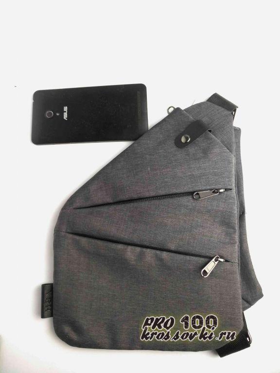Плоская сумка через плечо