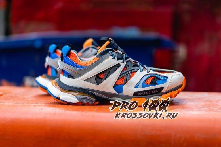 Кроссовки Balenciaga Track Orange Blue