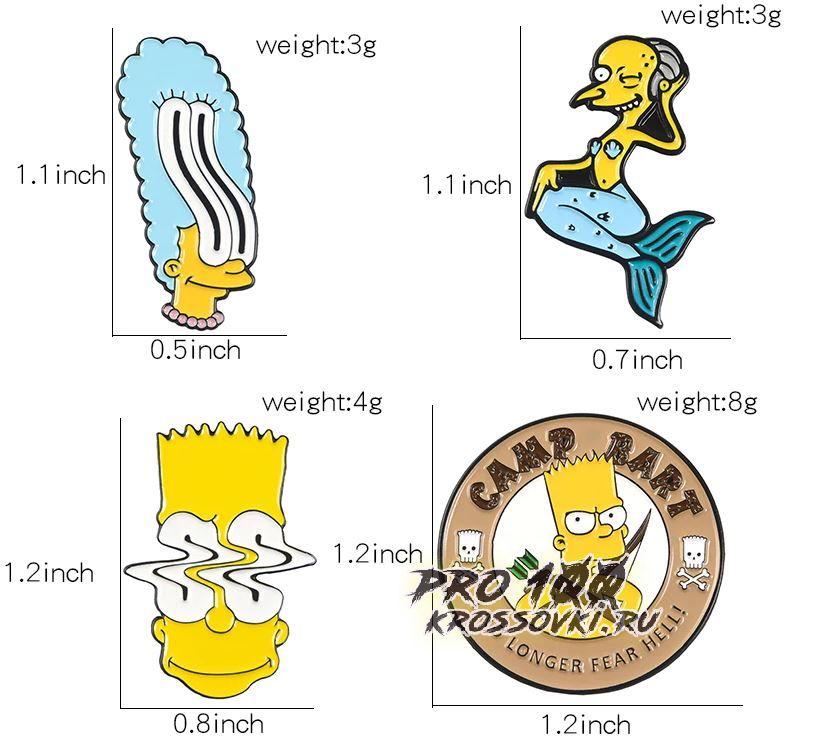 """Значки на одежду и рюкзаки """"Симпсоны"""""""