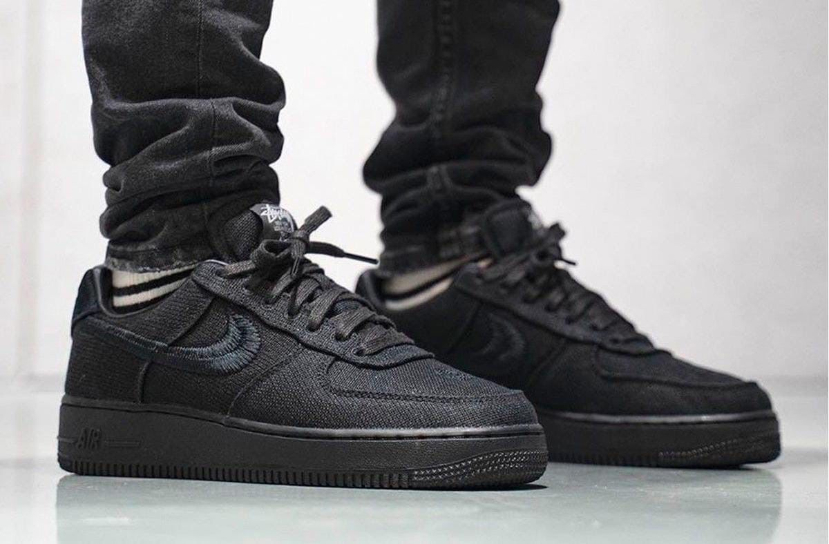 Кроссовки Stussy x Nike Air Force 1 Black Low