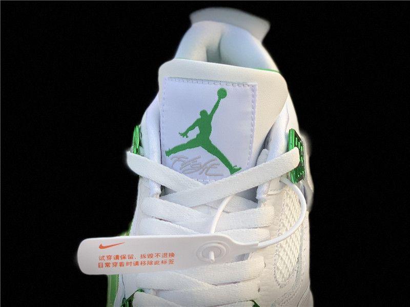 женские Jordan 4 Retro Metallic Green