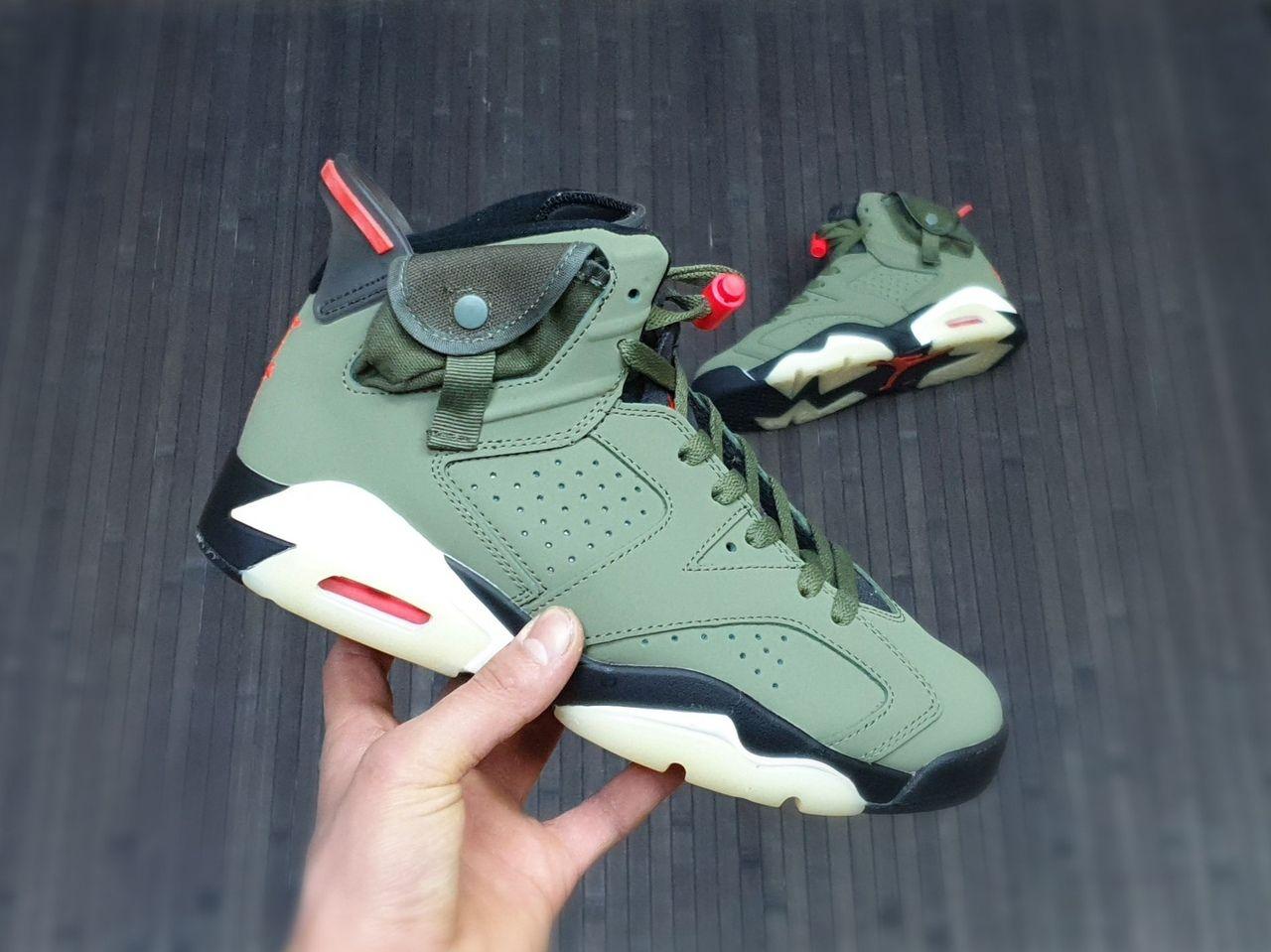 Баскетбольные кроссовки Air Jordan 6 Travis Scott