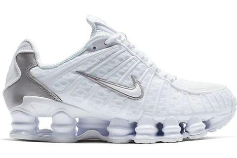 Nike Shox TL White Metallic Silver