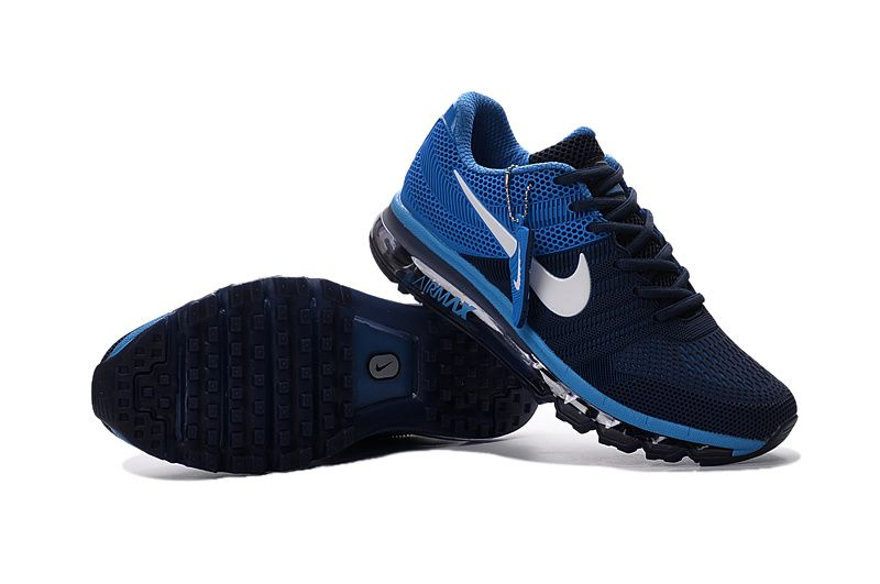 Nike Air Max 2017 темносиние с синим