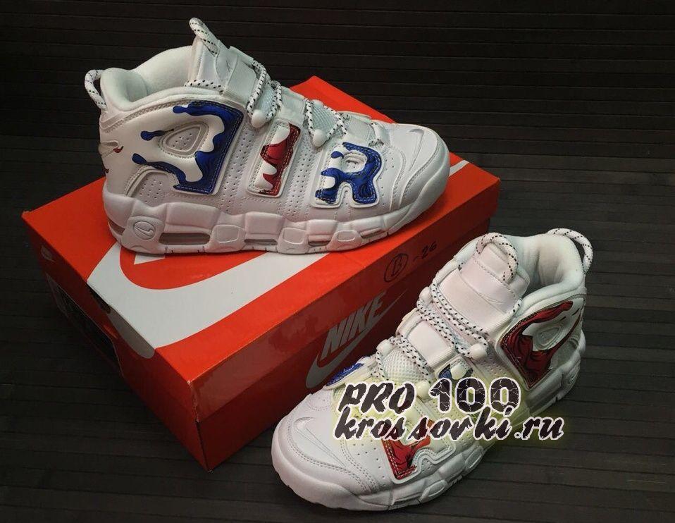 Высокие кроссовки Nike Air More Uptempo White Plus