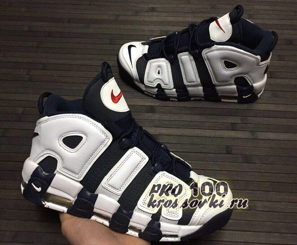 Кроссовки Nike Air More Uptempo Black White