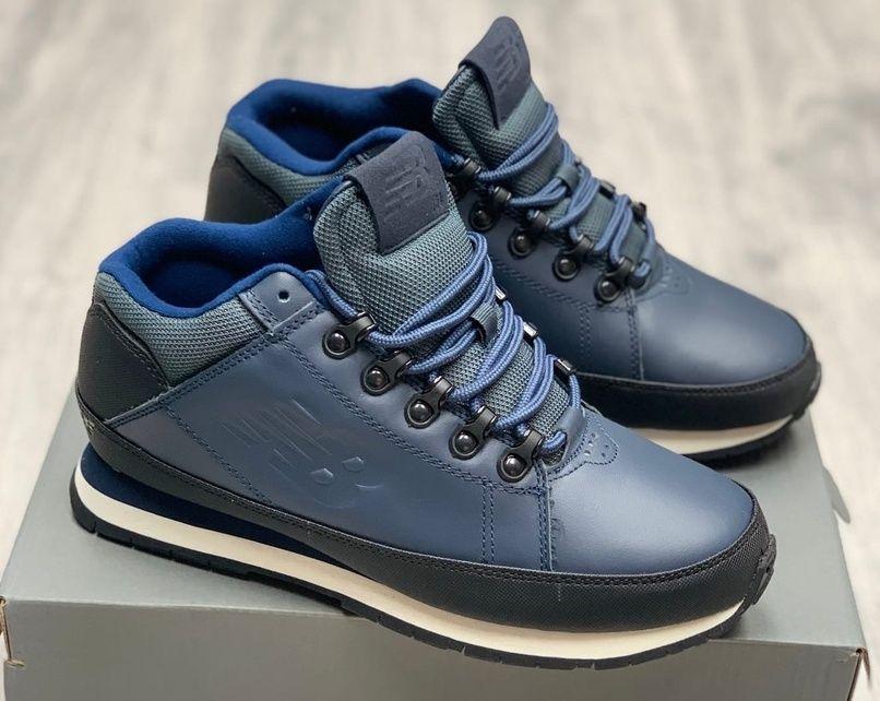 кроссовки New Balance 754 кожаные синие осень