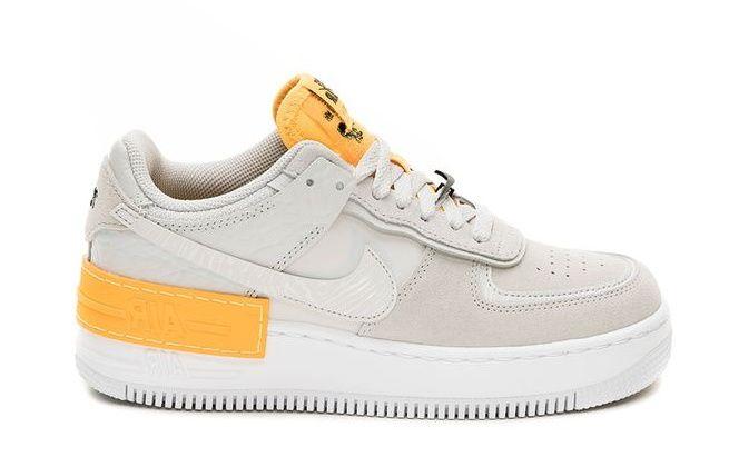 Женские кроссовки Nike Air Force 1 Shadow White Orange