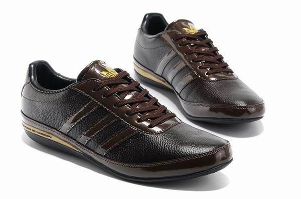 кроссовки Adidas Porsche Design S3 темно-коричневые