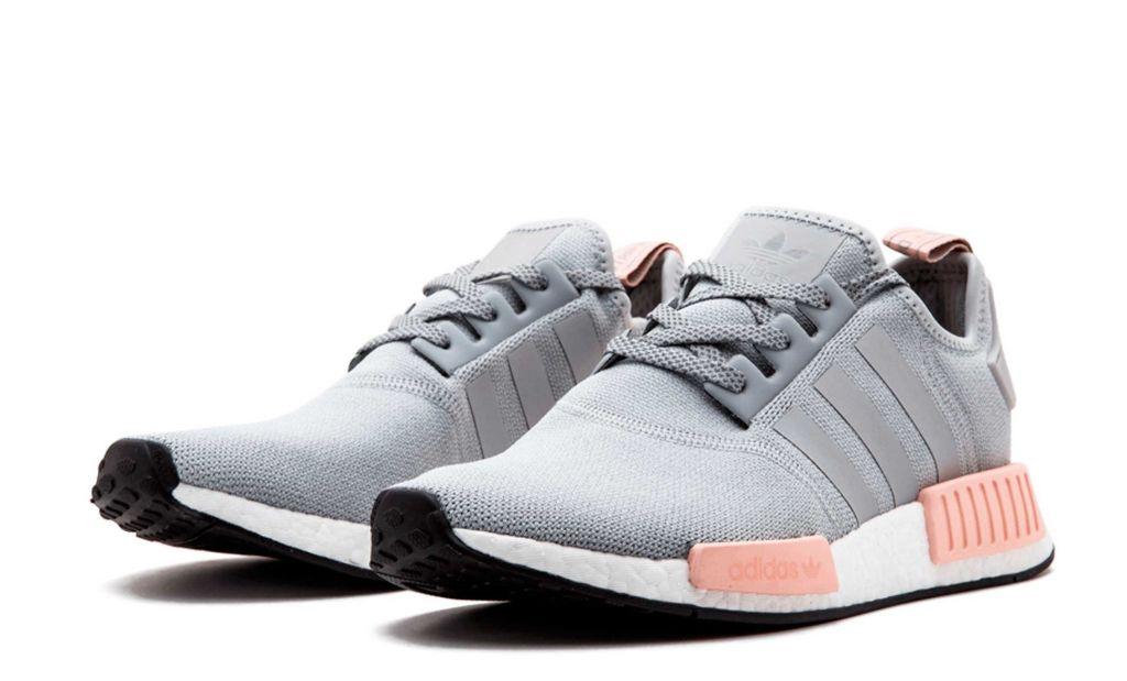 Женские кроссовки Adidas Nmd R1 Runner серые