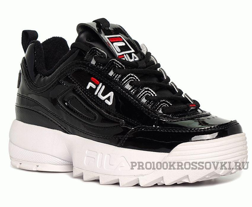 Кроссовки женские FILA Disruptor II Sneaker черные с белым