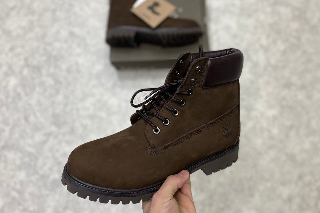 Ботинки Timberland 6 Inch коричневые без меха