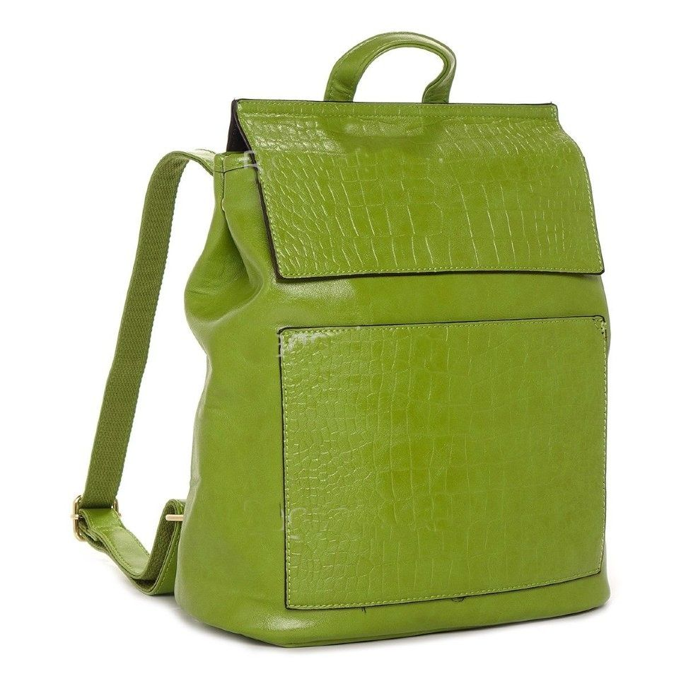 Стильный женский рюкзак Kalier из экокожи зеленый