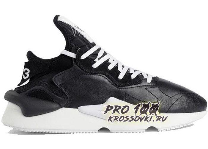 Adidas Y-3 Kaiwa Black White Black Heel
