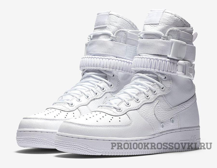 f6213f38 Высокие белые кроссовки Nike SF AF1 Special Field Air Force 1