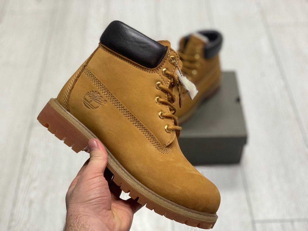 Ботинки на меху Timberland 6 Inch Premium Waterproof Boots песочные