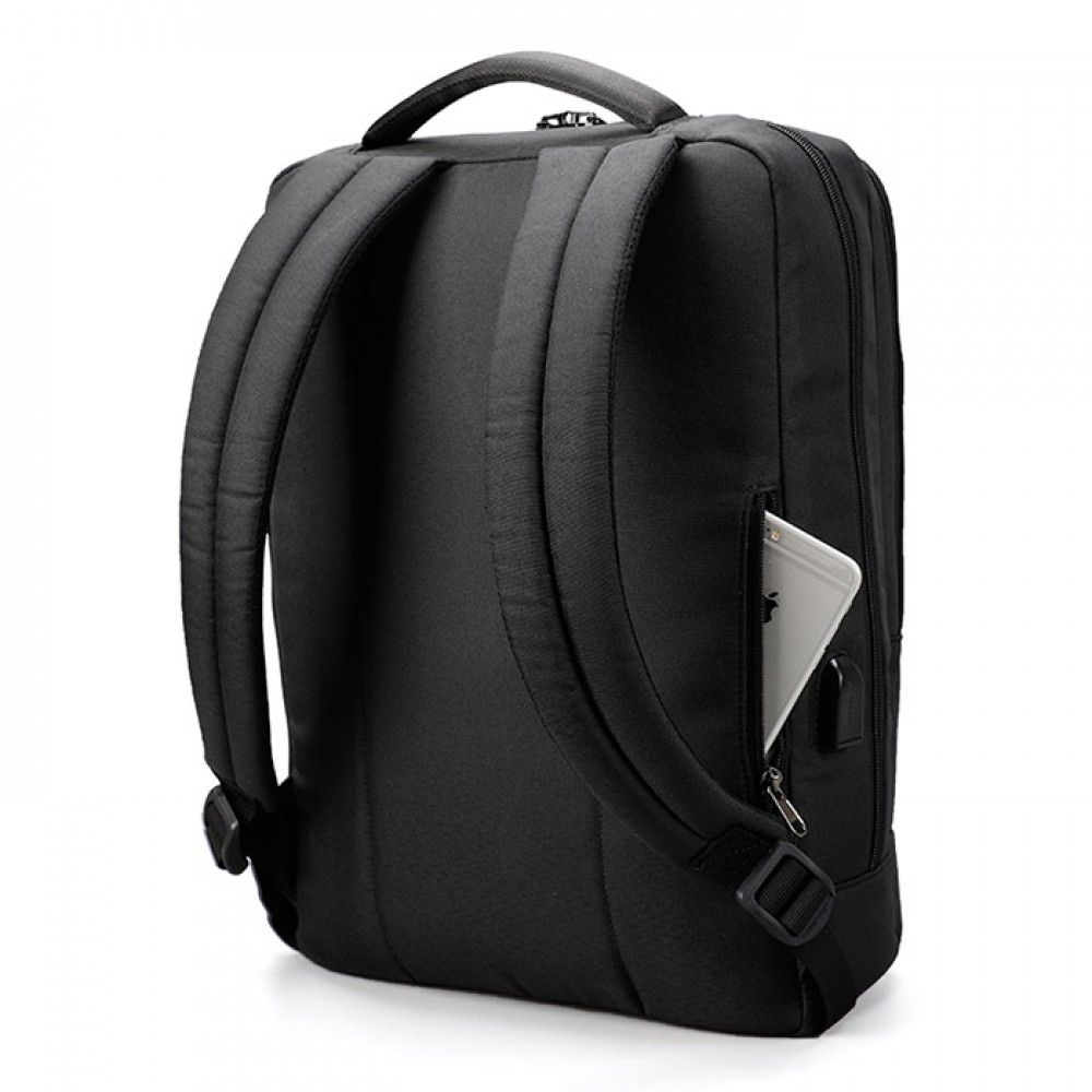 Бизнес-рюкзак T-B3331 темно-серого цвета под ноутбук до 15,6