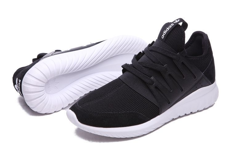 кроссовки Adidas Tubular  черно-белые