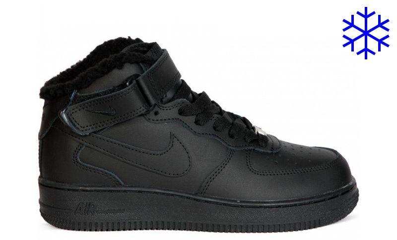 Зимние высокие кроссовки с мехом Nike Air Force High
