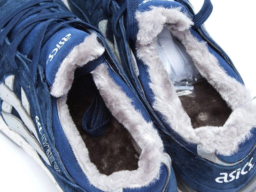 Купить мужские кроссовки Asics Gel Lyte 5 зимние с мехом синие