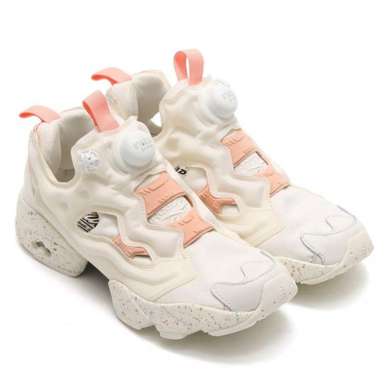 Reebok Instapump Fury белые розовые