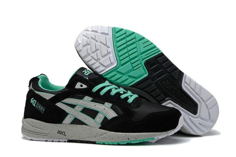 Купить мужские кроссовки Asics Gel Saga черно-мятные
