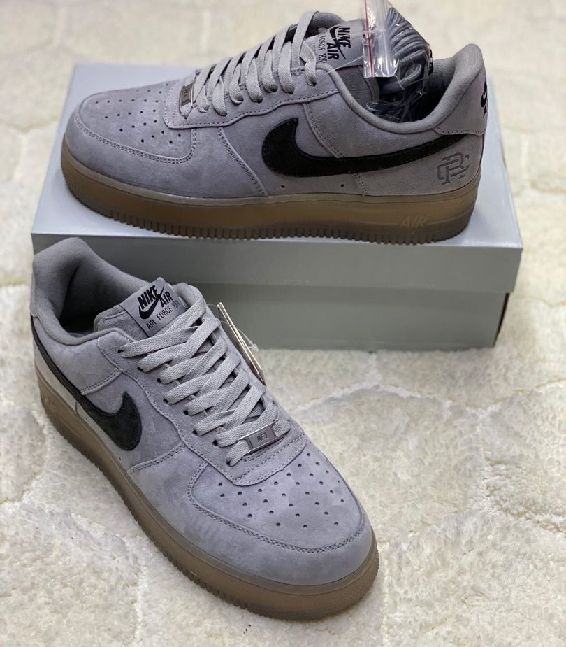 """Nike air Force 1 Low Reigning Champ Reflective """"grey/black"""""""