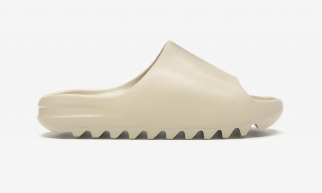 тапки Yeezy Slide Bone белые