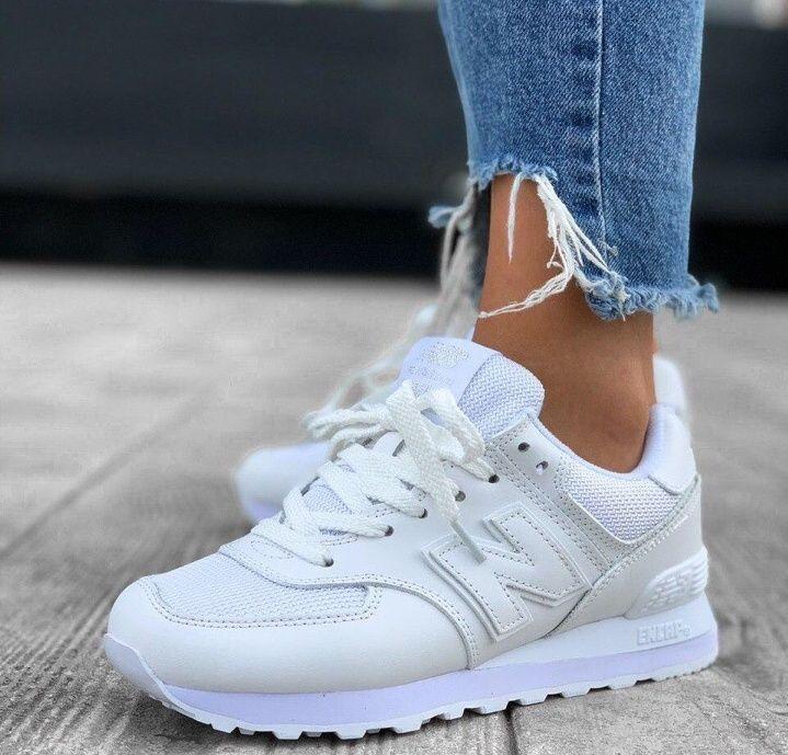 Женские кроссовки New Balance 574 белые