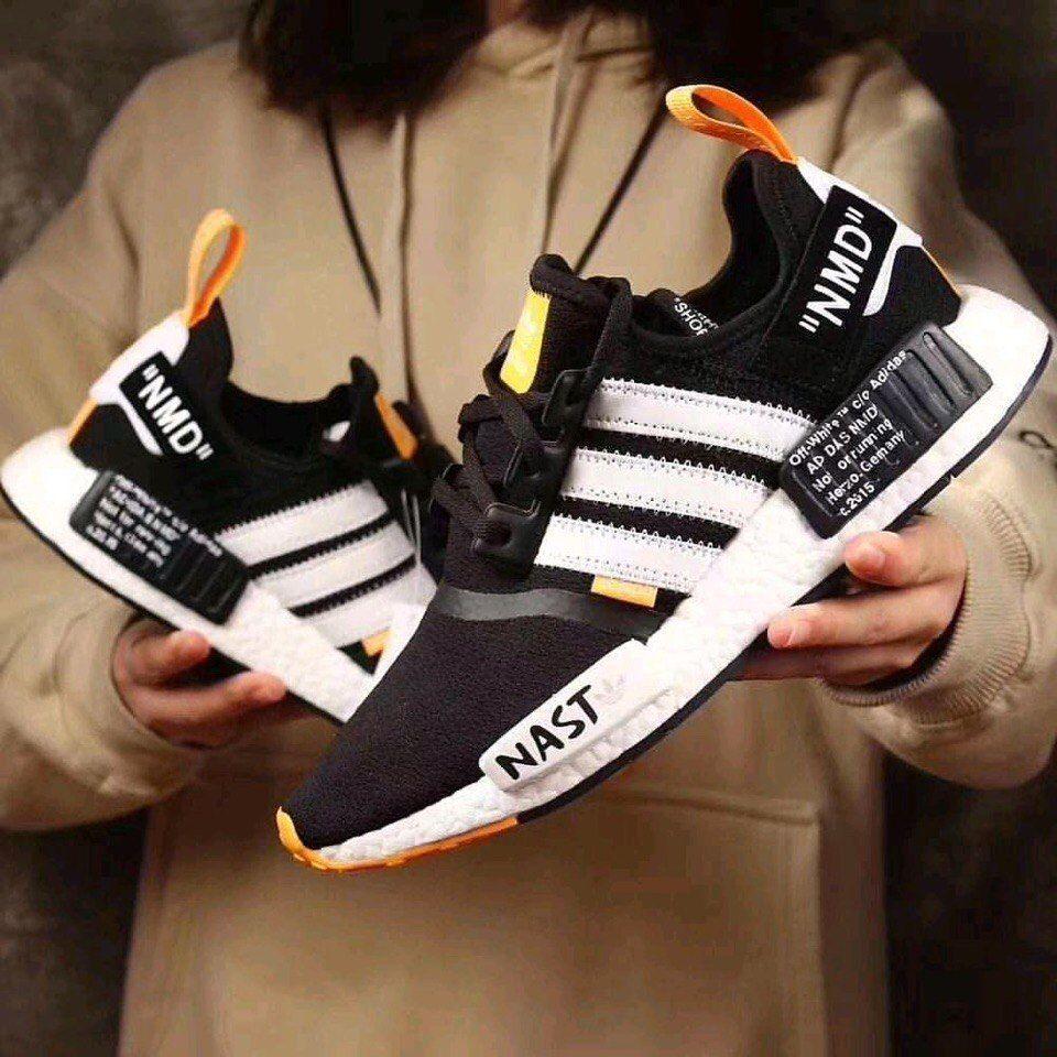 "кроссовки Adidas NMD Runner Black White ""Nast"""