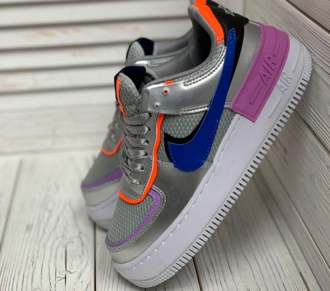 Nike Air Force 1 Shadow Metallic Silver