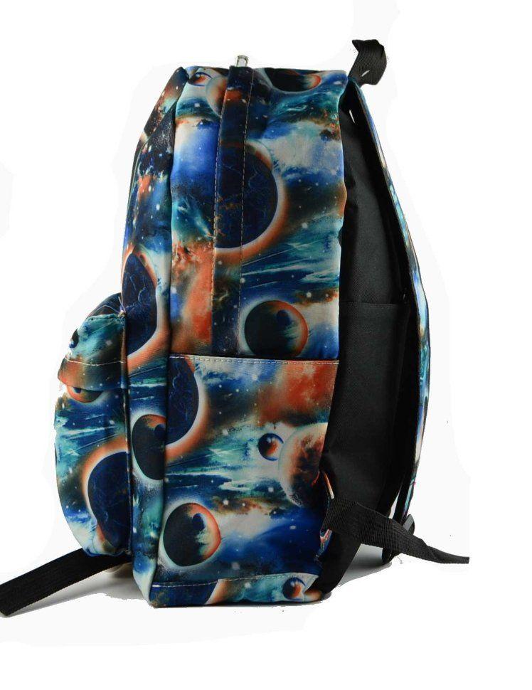"""Подростковый рюкзак """"Космос"""" синий"""